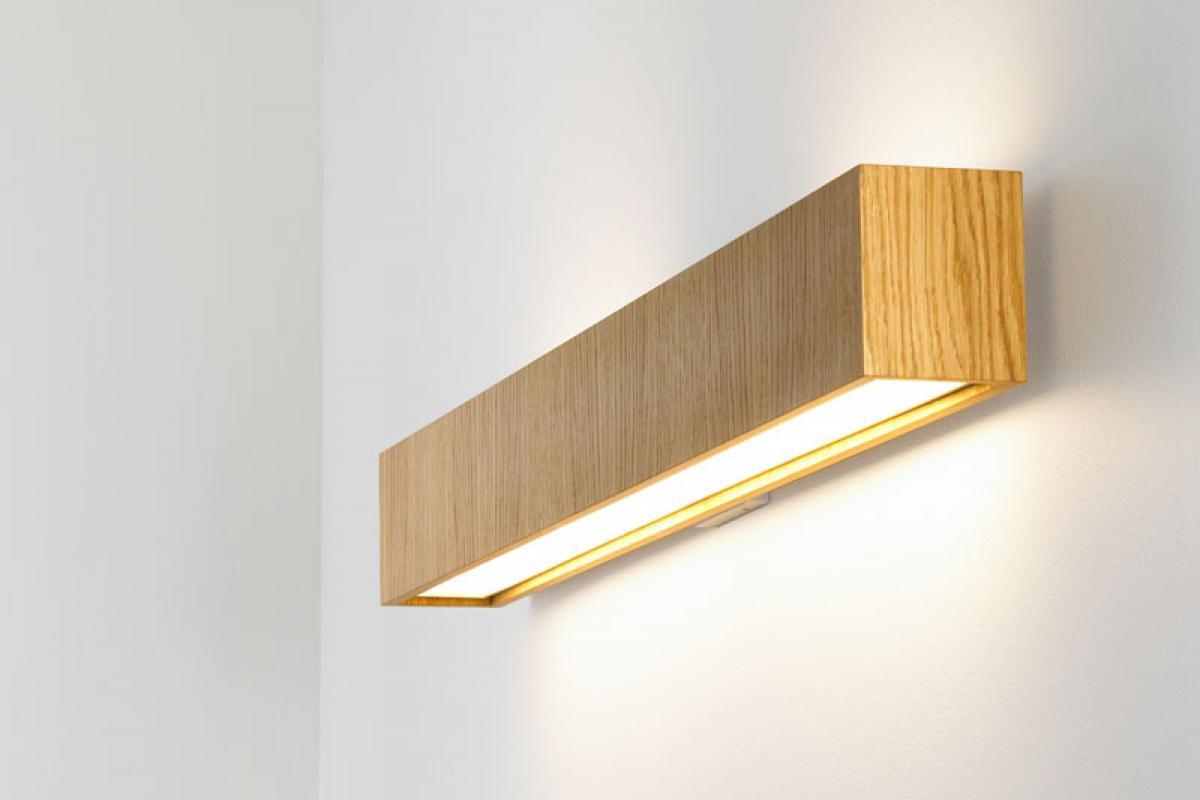 B.lux quadrat 120x10 applique 2g11 2x55w legno 661100 lámparas de