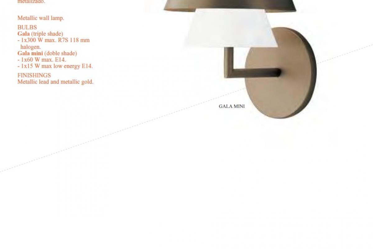 Carpyen gala applique abat jour triple r7s 300w 1181000 lámparas