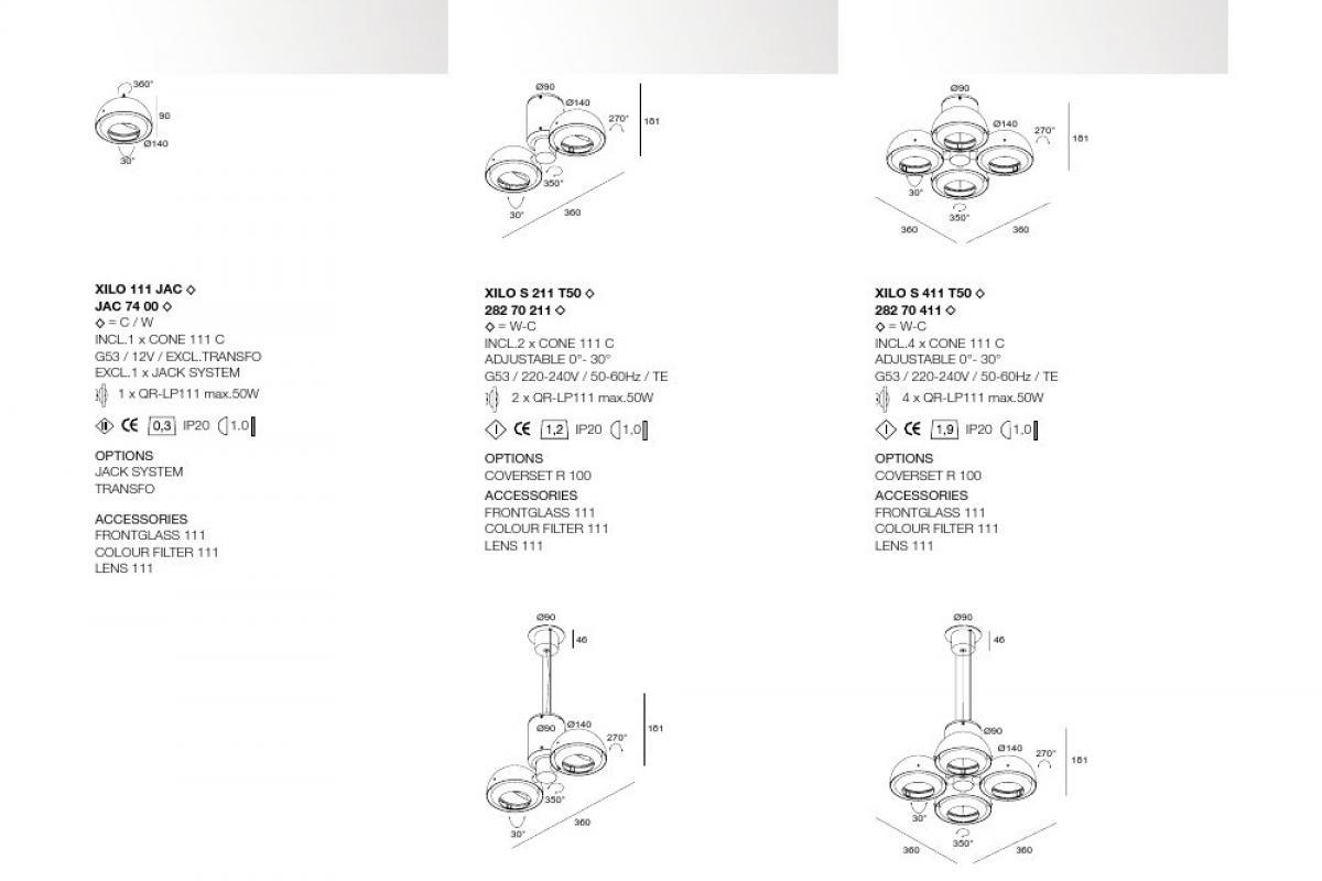 delta light xilo s 411 t50 ceiling lamp 36cm qr 111 282
