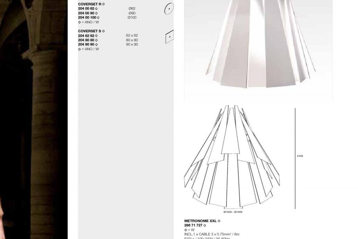 Delta Light Metronome Xxl W 286 71 727 W L 225 Mparas De Dise 241 O