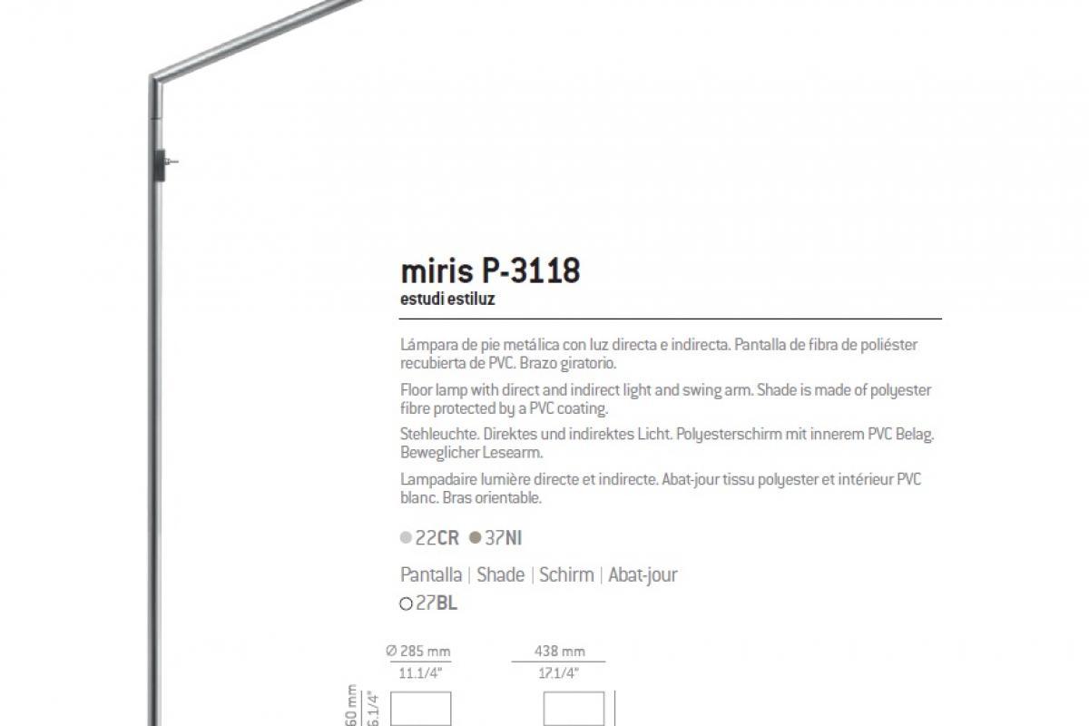 Estiluz Miris P 3118 Lamp Of Floor Lamp 031183700