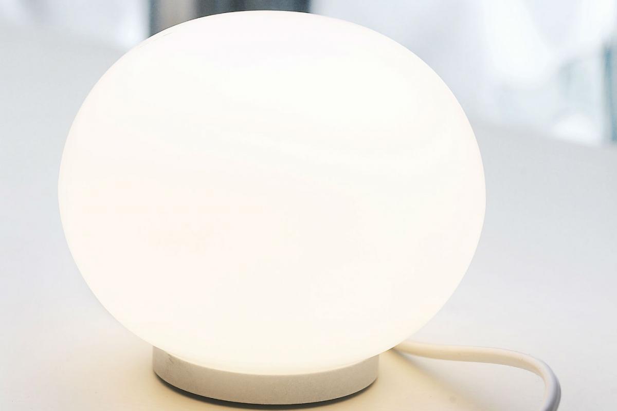 Flos glo ball w applique cm e w f lámparas de diseño