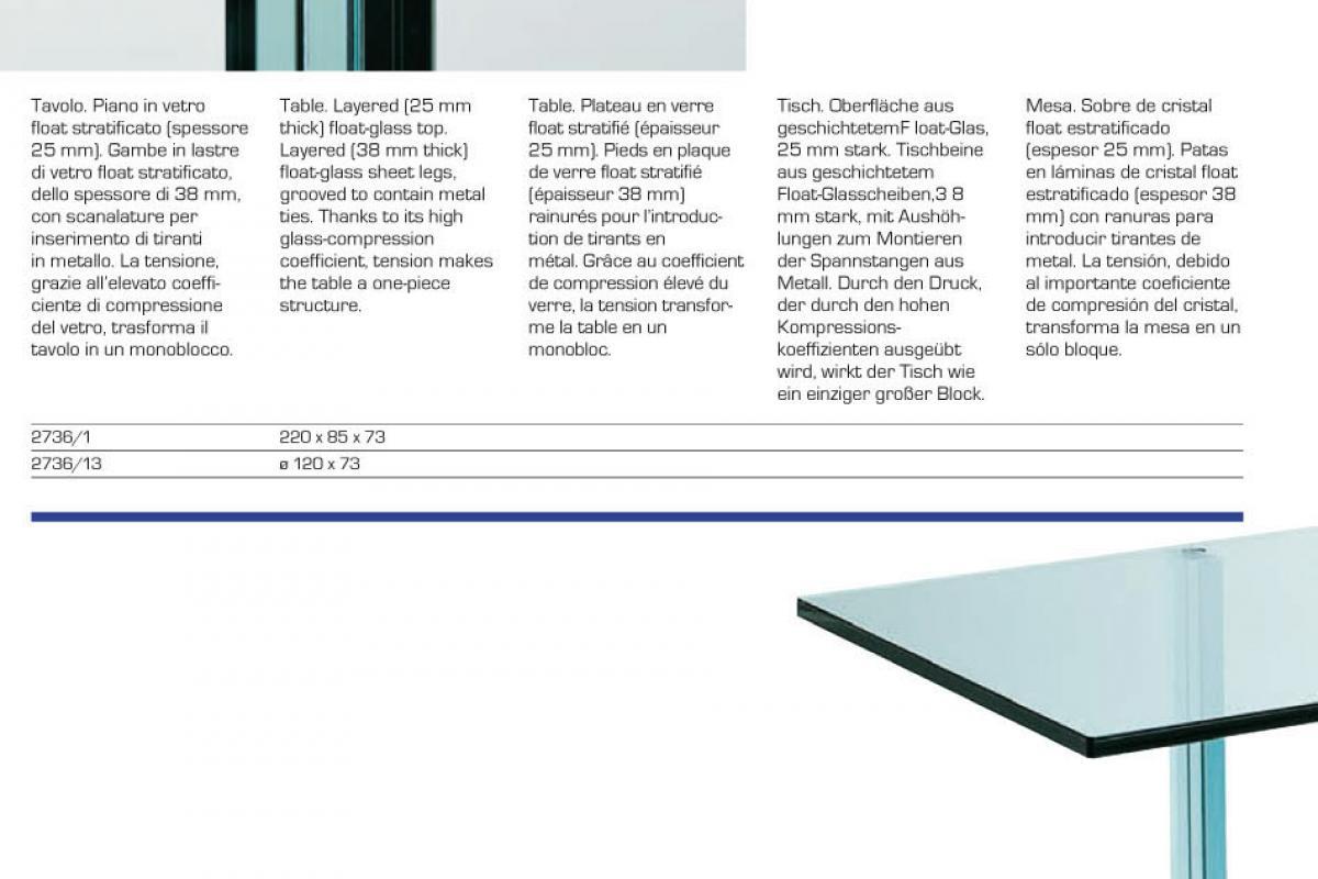 Imagen 3 de teso table rectangular glass float 220x85x73cm