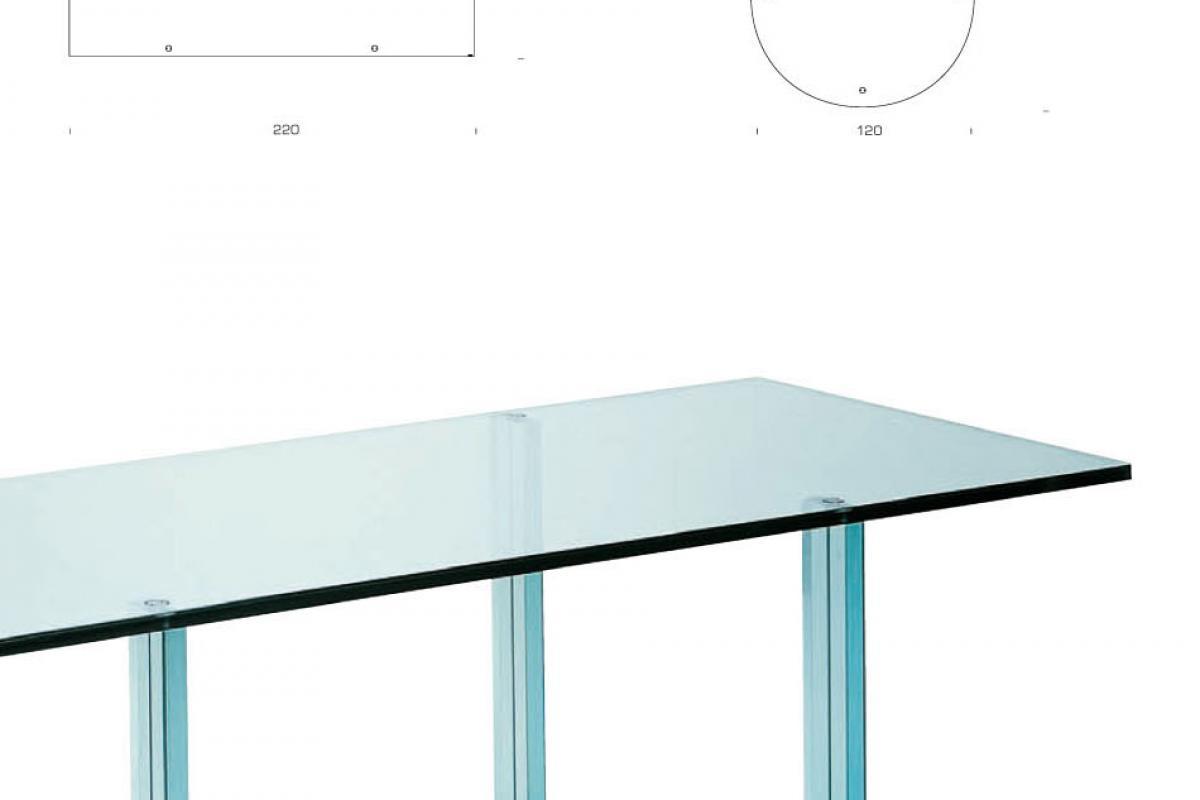 Imagen 4 de teso table rectangular glass float 220x85x73cm