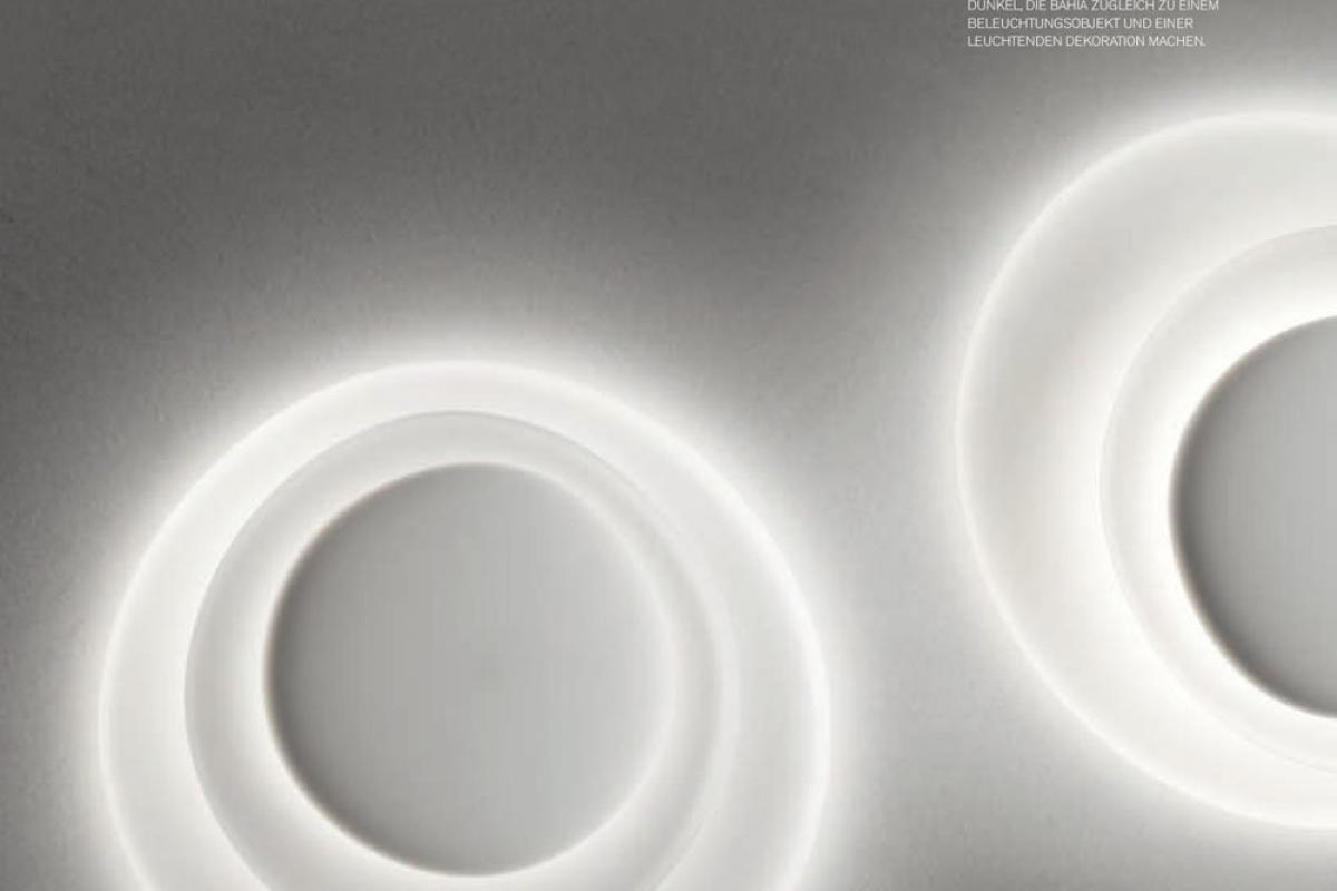 Foscarini bahia applique led bianco l lámparas de diseño