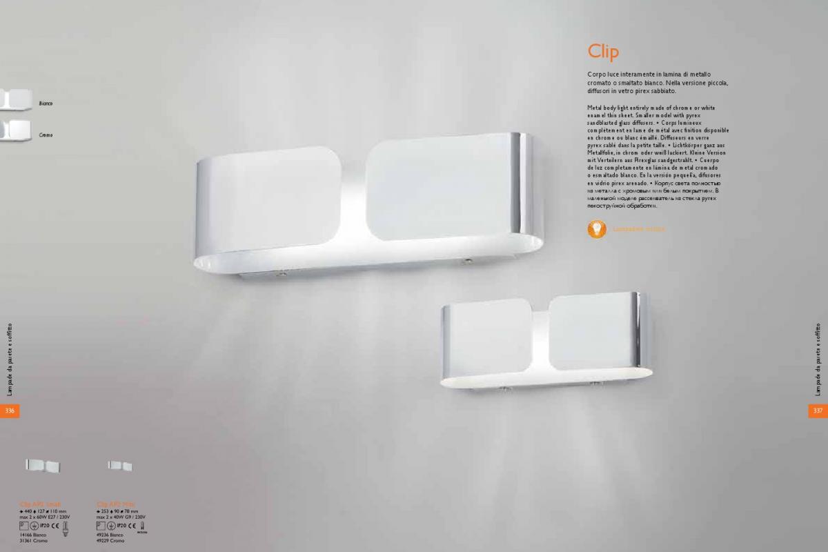 Ideal lux clip applique ap mini xg w cromo lámparas