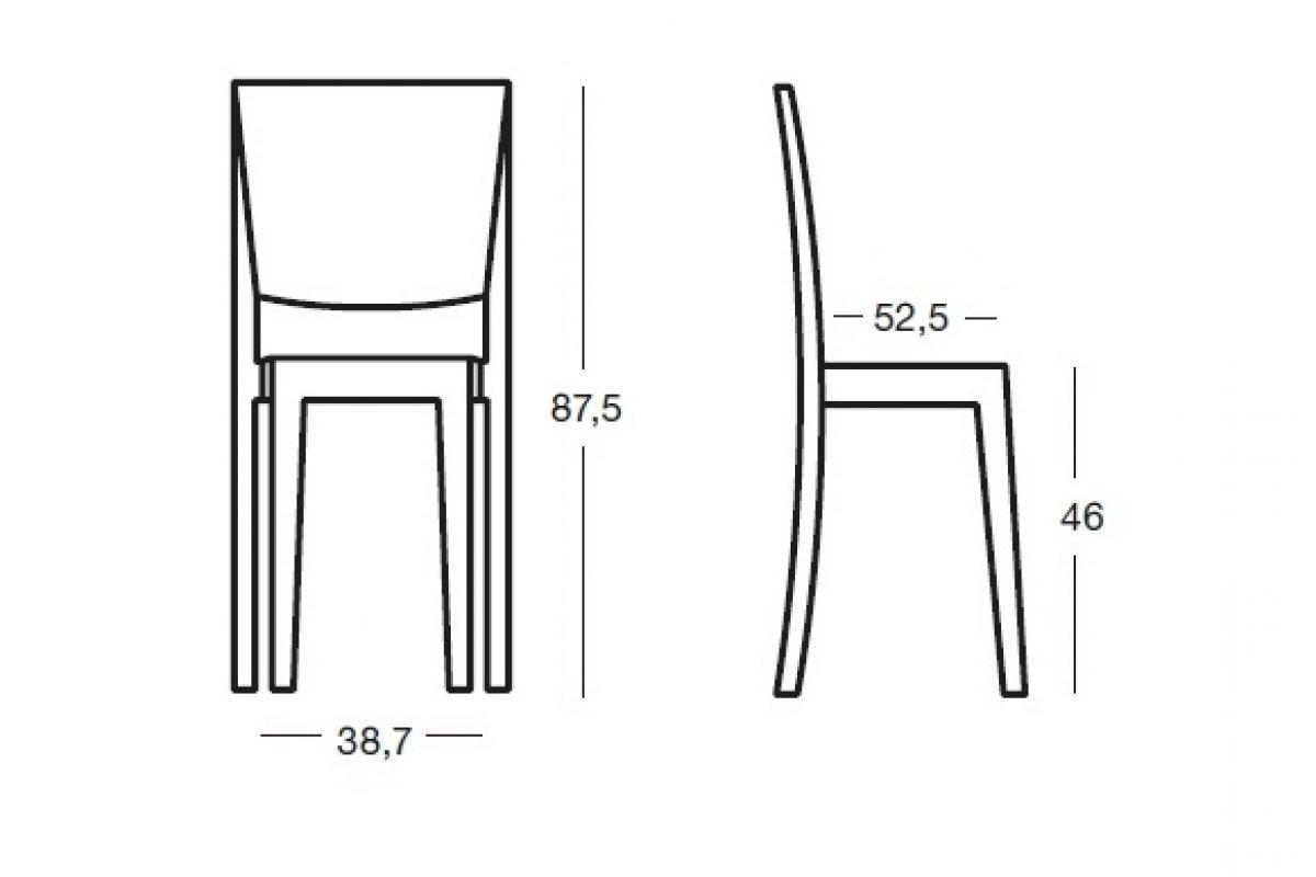 La Marie stuhl Transparent (2 einheiten verpackung)