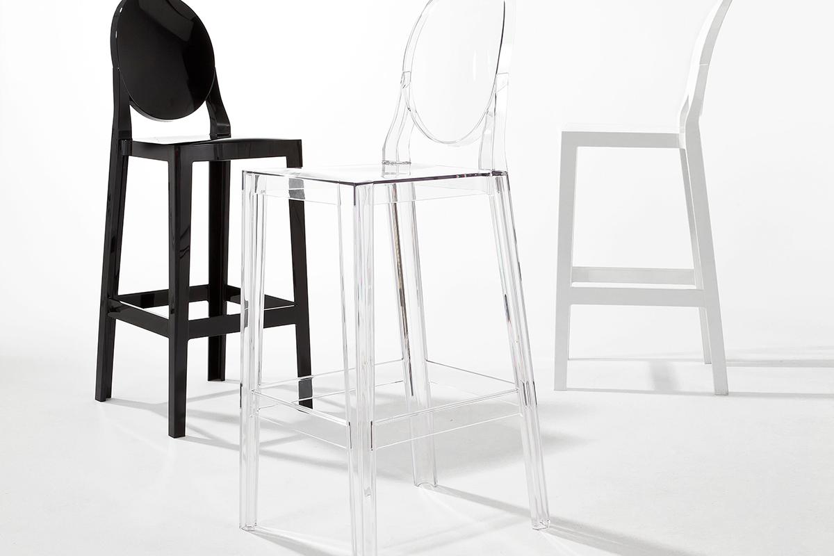 Kartell one more please sgabello schienale 5895 lámparas de diseño