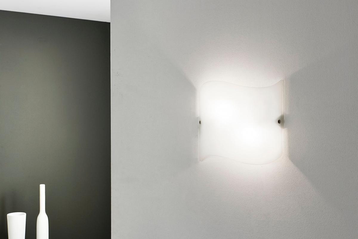 Linealight onda m applique quadrata a muro lámparas de diseño