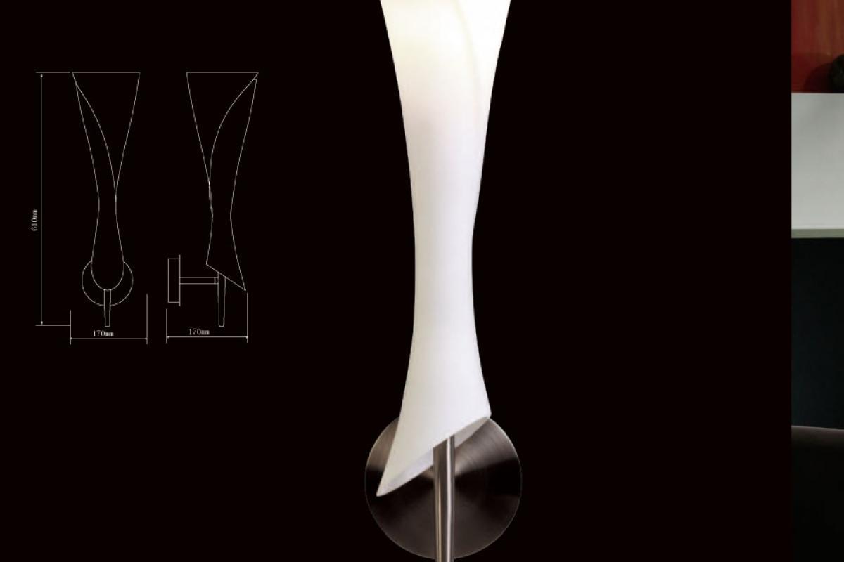 Mantra Zack Wall Lamp Nickel Satin 1l 0773 L 225 Mparas De