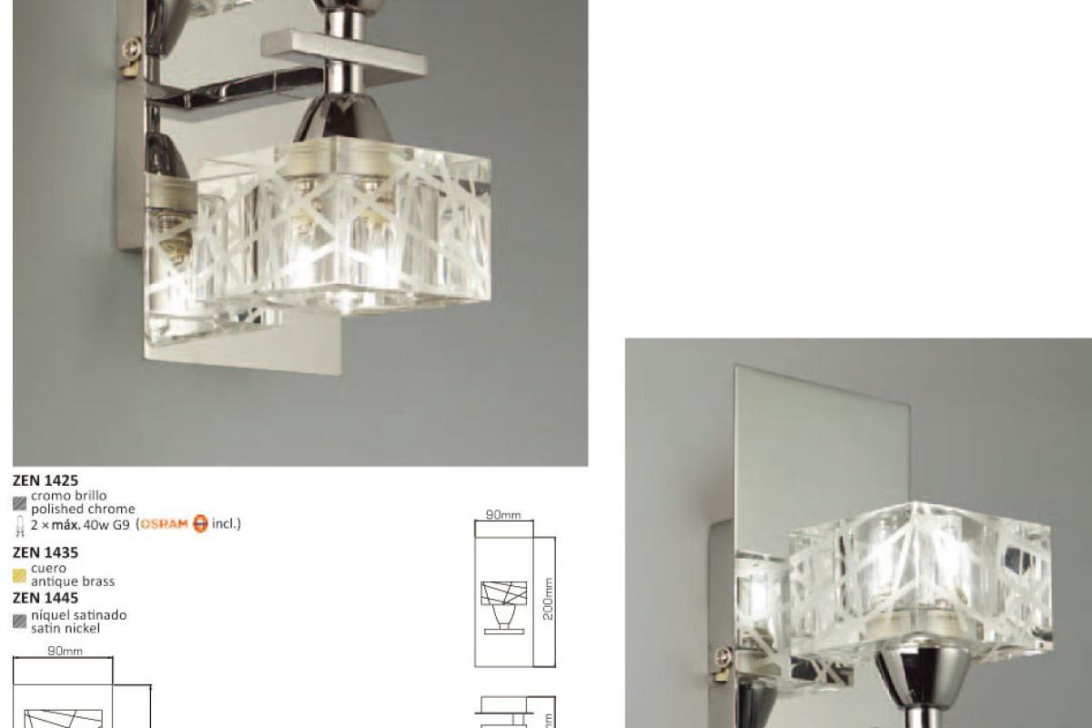 Mantra zen applique cuir l lámparas de diseño