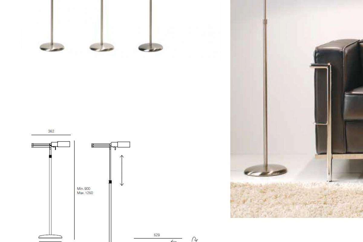 Milan iluminacion elea l mpara de pie lectura g9 1x53w - Iluminacion de pie ...