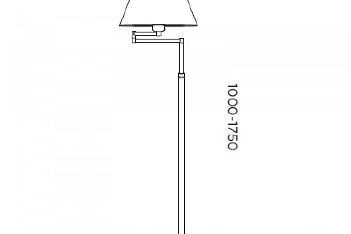 Pujol iluminacion americana l mpara de pie e27 60w niquel - Iluminacion de pie ...