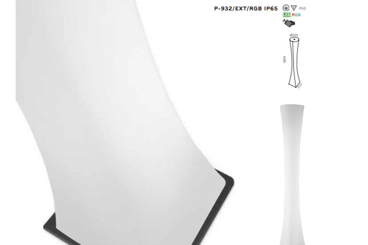 Pujol iluminacion masai l mpara de pie exterior 2xt5 p 932 - Iluminacion de pie ...