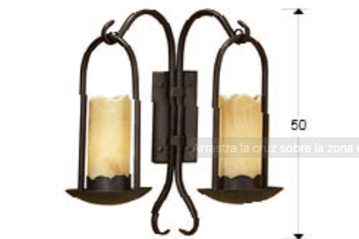 Schuller candela applique xe led marrone lámparas de