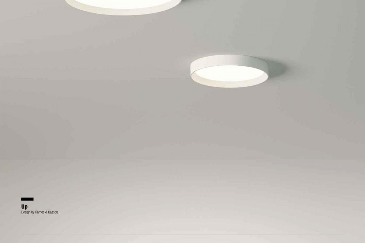 Plafoniere Da Soffitto Rotonde : Vibia up soffito rotonda doppio piastra lámparas de