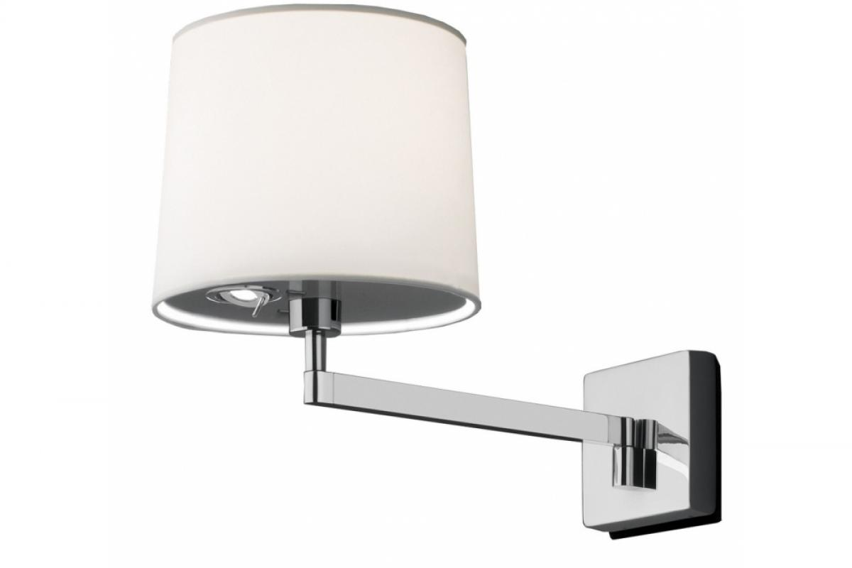 Vibia swing applique con paralume crema luce 0514 01 lámparas de