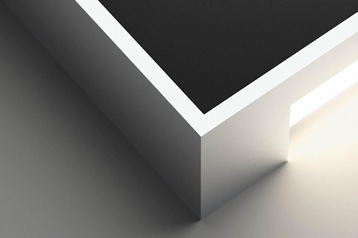 Blanc Alpha Chrome Rectangulaire Applique Et Laqué Mat hsCdotQrxB