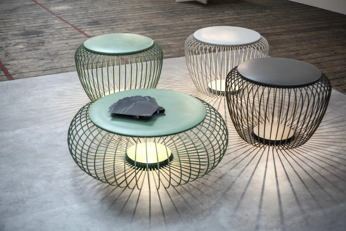vibia meridiano tisch im freien mit licht led 4715 07 l mparas de dise o. Black Bedroom Furniture Sets. Home Design Ideas