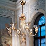 488 L6 lamp Pendant Lamp Diffuser ambar Structure Golden 24K