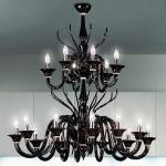 Belzebu L18 lamp Pendant Lamp Chrome Black