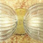 Butterfly P Wall Lamp Gold Glass Large Hoja Gold