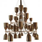 Copacabana Queen 12.6.3 Pendant Lamp E27 42x18w porcelain Gold