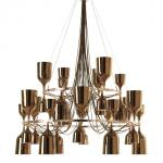 Copacabana Queen 12.6 Pendant Lamp E27 36x18w porcelain Gold
