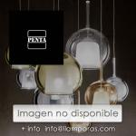 KASKADE round pendant lamp with 13 lights. Structure in bronze and modular shades in transparent glass