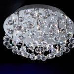 Estratos ceiling lamp Round 9L bright chrome/Glass Asfour