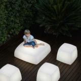Lite cube asiento/lámpara bianco (calido 2700ºK)