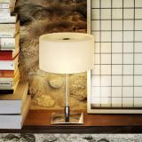 Drum Table Lamp Glass white ø23x37cm 3x20w G9 (HL)