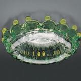 708 F Glass VERDINO ámbar E14