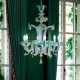 708 L6 Lamp Pendant Lamp Glass Green ambar/Chrome