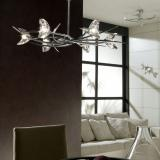 Eclipse Pendant Lamp Chrome 6L