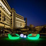 Formentera sessel iluminado batería recargable LED RGB 162x164