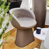 Mallorca 60 sessel im Freien 60x55x71cm