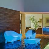 Aruba armchair iluminado batería recargable LED RGB 80x82x81cm