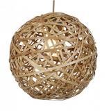 Bambu Lampada Lampada a sospensione bola mimbre E27 60W 35cm