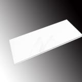 Accesorio Cristal pintado blanco 130x1,2x70cm