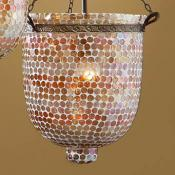Accesorio tulipa Mosaico Cristal Naranja Topos Grande