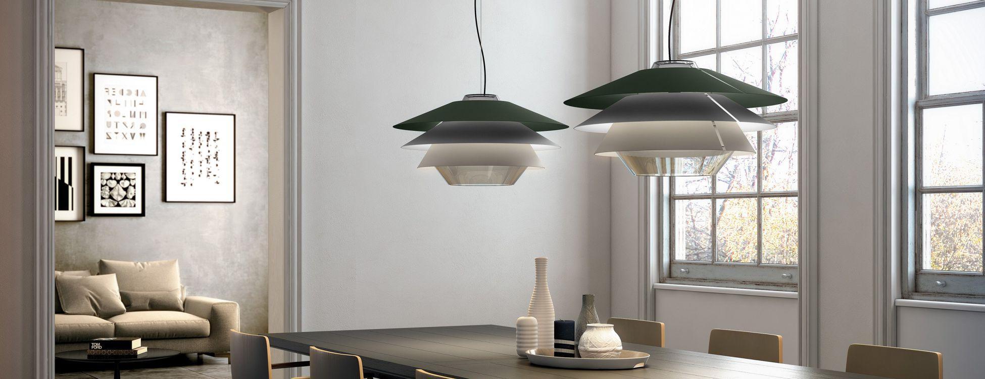 Overlay S25 Lampe Pendelleuchte G9 60W - Glas Grau
