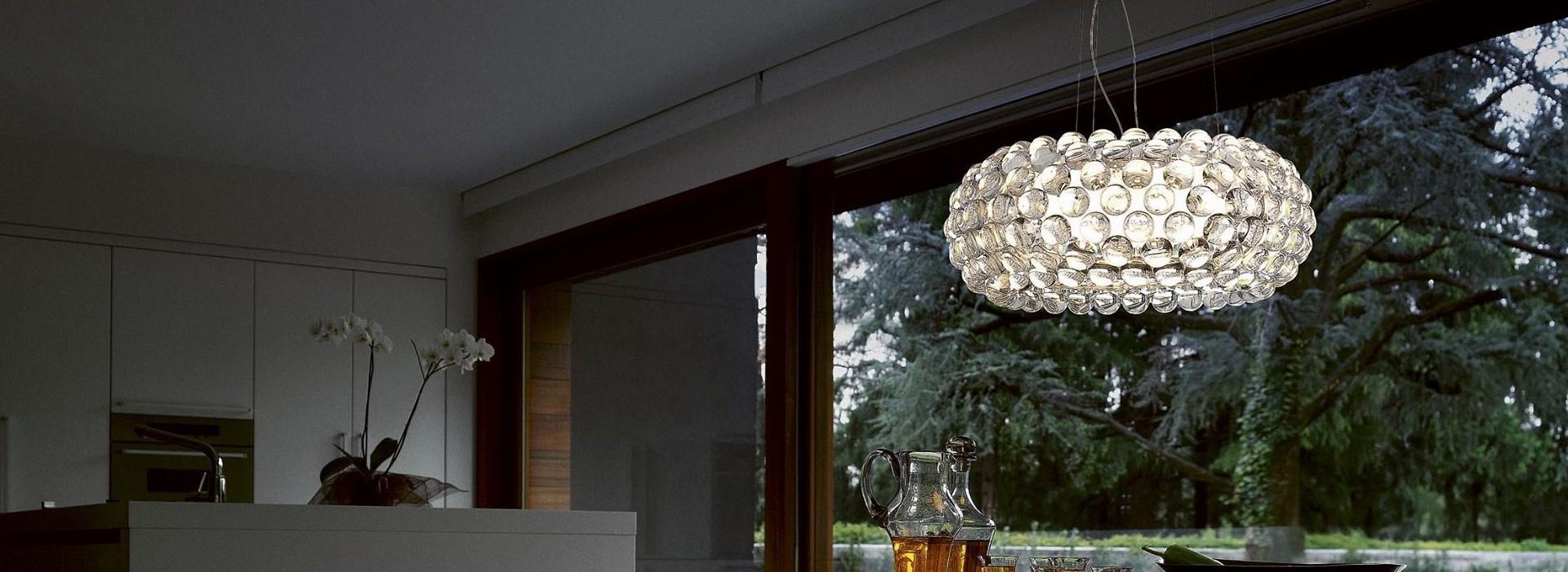 Caboche Lámpara Colgante Grande Transparente