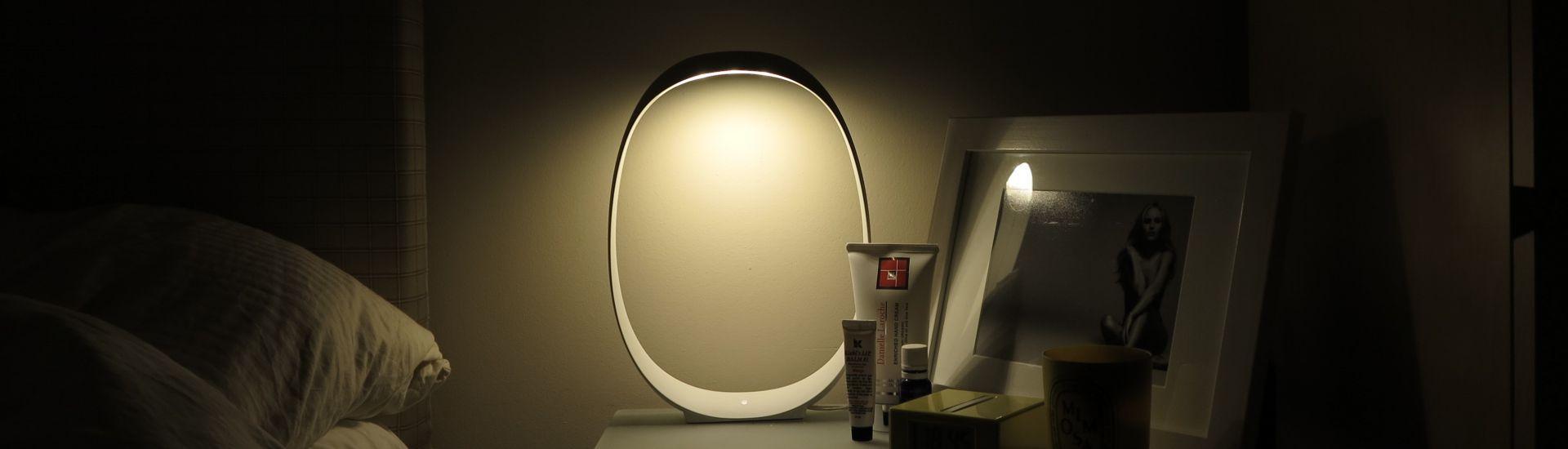 Anisha Sobremesa Grande 46cm LED 4,5w 3000K con regulador blanco