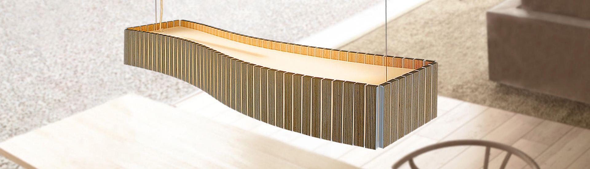 Uxi Lâmpada pingente 2x39W tablero marino