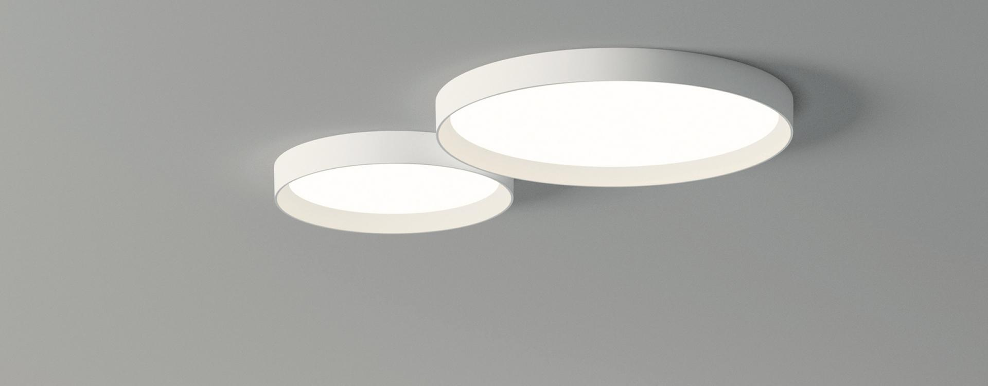 Up Plafón pequeño 1 x placa LED 30w - Lacado blanco mate