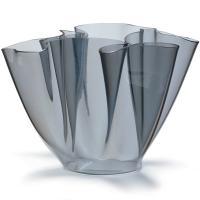 Cartoccio Jarrón 15cm Cristal natural gris