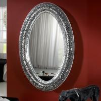 Gaudi Espejo ovalado 116x180x10cm - Espejo plata y