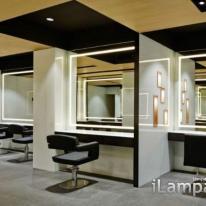 Espejos con LEDs para peluquerías en el salón de belleza Toro