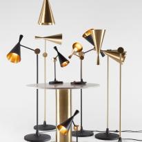 Las lámparas Beat de Tom Dixon en versión de pie y sobremesa